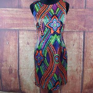 AGB Petite colorful dress